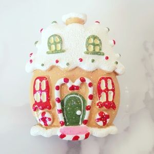 Christmas Gingerbread House Brooch Vintage Pin
